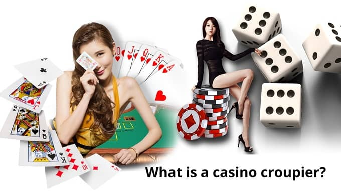 What is a casino croupier?