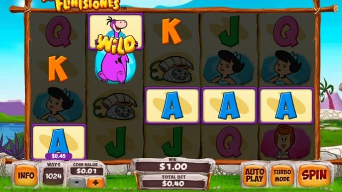 What are the features of The Flintstones slot machine?